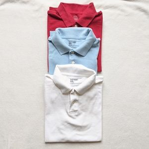 Old Navy Bundle of 3 boys polos - size 8